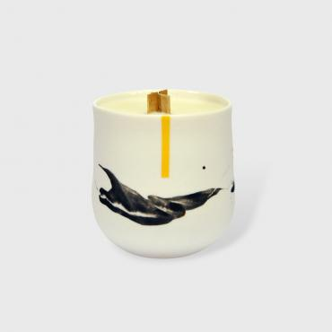 Candle Duality Yellow - Cotton flower