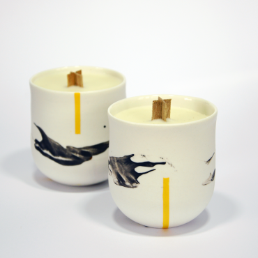 Candle Duality Yellow - Rose petals