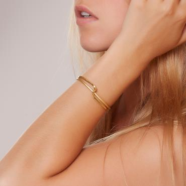 Bracelet 2 Fils gold-plated