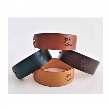 Bracelet Notes de Cuirs - Couleur Tonka