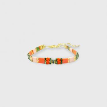 Bracelet collection Sunny Fun corail et or