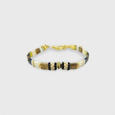 Bracelet collection Sunny Fun noir et or