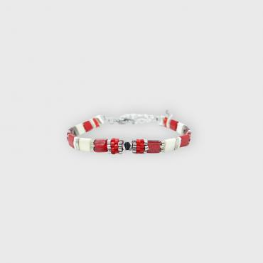 Bracelet collection Sunny Fun rouge et argenté