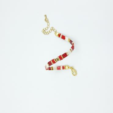 Bracelet collection Sunny Fun rouge et or