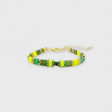 Bracelet collection Sunn Fun Vert, jaune et or