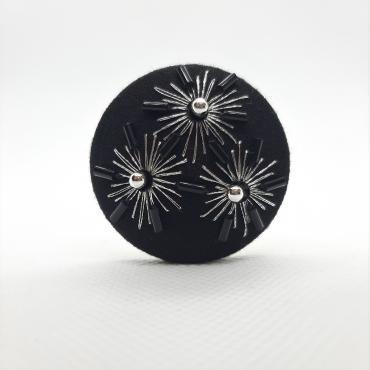 Magnetic brooch Arabis Argent
