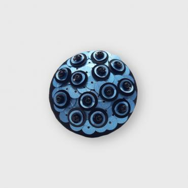 Magnetic brooch Lunille Bleue