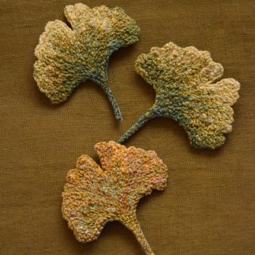 Broche Ginkgo n°1 - collection Forest