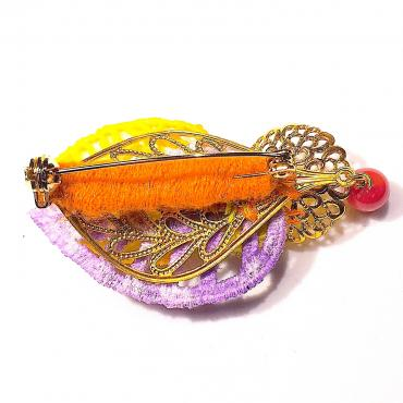 Brooch Cambria orange