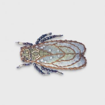 Broche Cigale Or