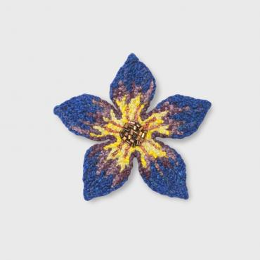 Brooch Fleur Bleue (M) - collection Blue mood