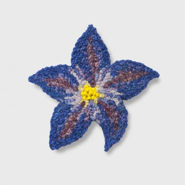 Brooch Fleur Bleue (S) - collection Blue mood