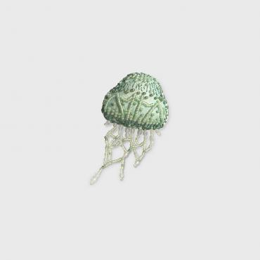 Brooch celadon Jellyfish