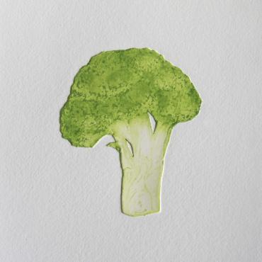 Engraving Broccoli