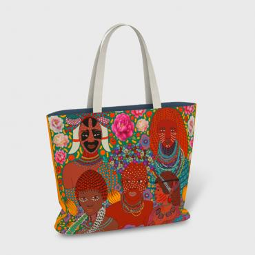 Grand Sac/Cabas African Beauty