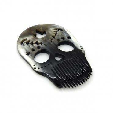 Beard comb Calavera nature