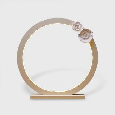 Cercle lumineux Flower vanille