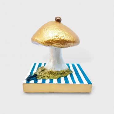 Sculpture papier Champignon pop