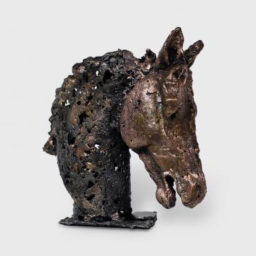 Sculpture Cheval Barbe II