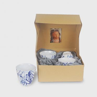 Coffret de 4 tasses collection Fil d'Arianne