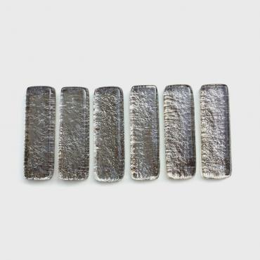 Set of 6 Knife blocks silvery