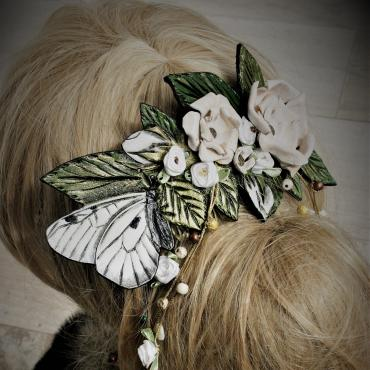 Headdress Wedding comb Parnassius 2