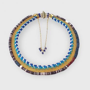 Collier Ameno bleu