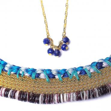 Necklace Ameno bleu