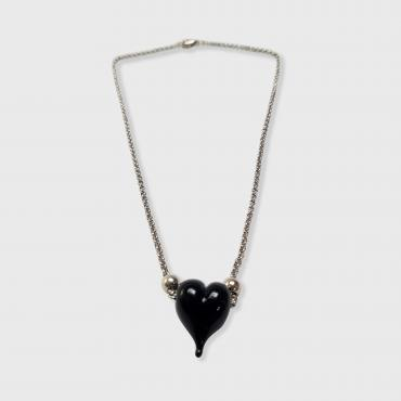 Necklace Black Heart