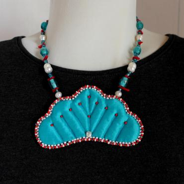 Collier collection VALÉRIANE turquoise