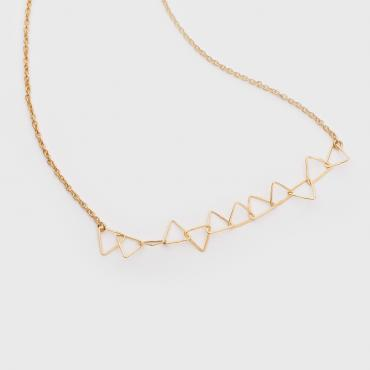 Collier Signal Dentelle de triangles vermeil