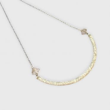 Collier Ethnique Quartz Diamant