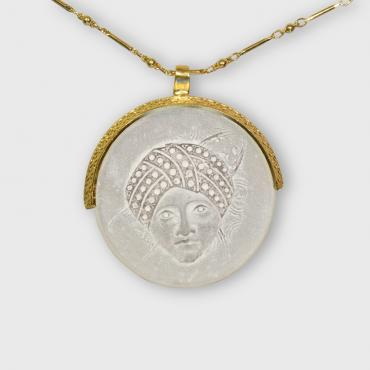 Necklace femme turban doré à l'or fin
