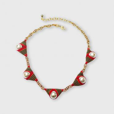 Collier Galon rouge