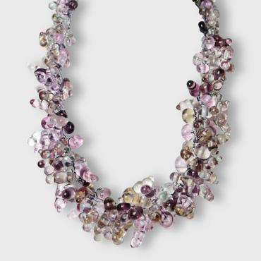 Collier gouttes Transparences violet