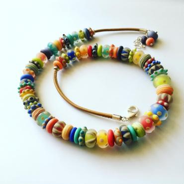 Collier graphik XL multicolore