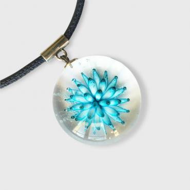 Collier implosion turquoise