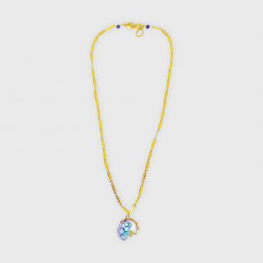 Necklace La vague bleu