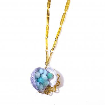 Collier La vague bleu