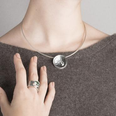 Collier MOUNTAIN en argent et palladium