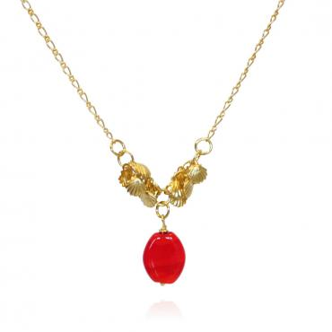 Collier Nymphe rouge