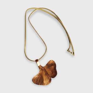 Pendant Ginkgo Biloba in copper