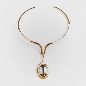 Necklace gold-plated with hematite 3