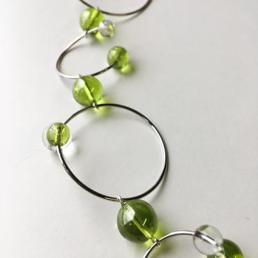 Necklace Rithm L - Green