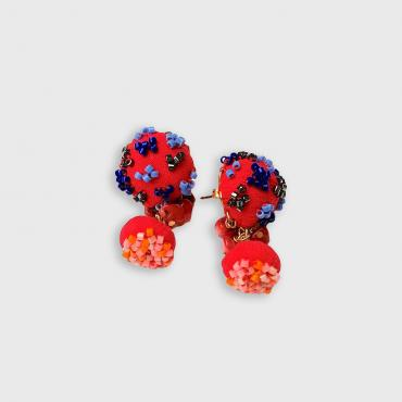 Earrings SANGO red