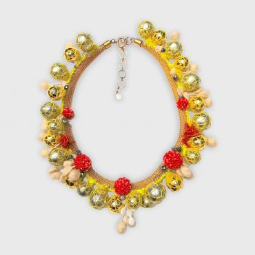 Necklace Sea weed yellow