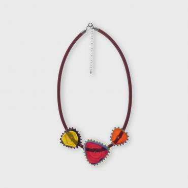 Necklace Triangles Red
