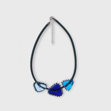 Collier Triangles Bleu