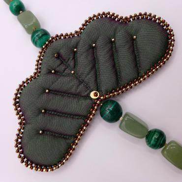 Collier collection VALÉRIANE jade