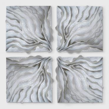 Wall decoration collection feuilles